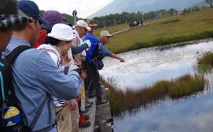 18第6日目 尾瀬フィールドワーク(湿原の成り立ちの学習)